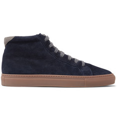 Brunello Cucinelli Apollo Nubuck-Trimmed Suede High-Top Sneakers