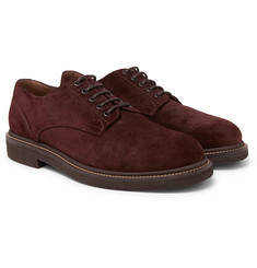 Brunello Cucinelli - Brushed-Suede Derby Shoes
