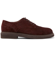 Brunello Cucinelli Brushed-Suede Derby Shoes