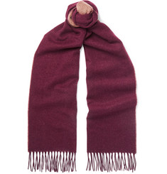 Brunello Cucinelli Fringed Two-Tone Cashmere Scarf