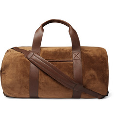 Brunello Cucinelli - Suede and Full-Grain Leather Holdall