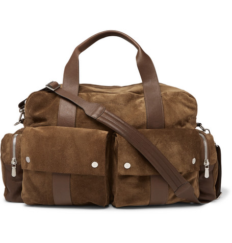 Suede And Full Grain Leather Holdall by Brunello Cucinelli