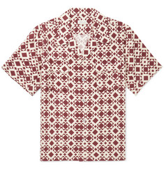 You As Arlo Camp-Collar Printed Twill Shirt