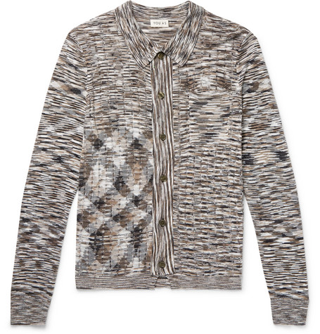 YOU AS Willem Space-Dyed Cotton Cardigan - Brown