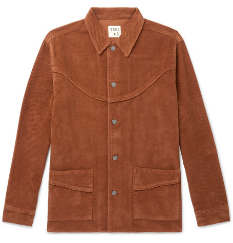 YOU AS Clay Cotton-Corduroy Jacket - Brown
