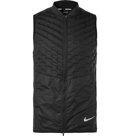 8b82a8b95c2 Nike Aeroloft Slim-Fit Quilted Ripstop Down Gilet In Black
