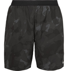 Nike Running Distance Camouflage-Print Dri-FIT Shorts