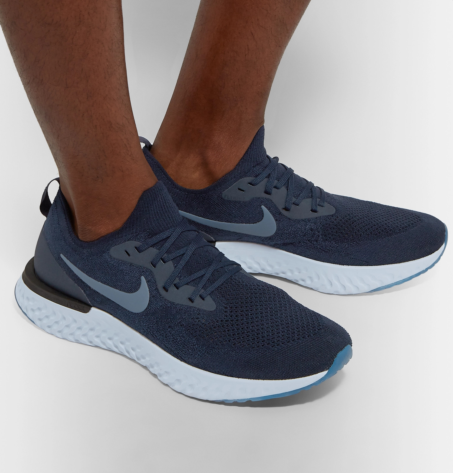 33ba160f37c Nike Running - Epic React Rubber-Trimmed Flyknit Sneakers