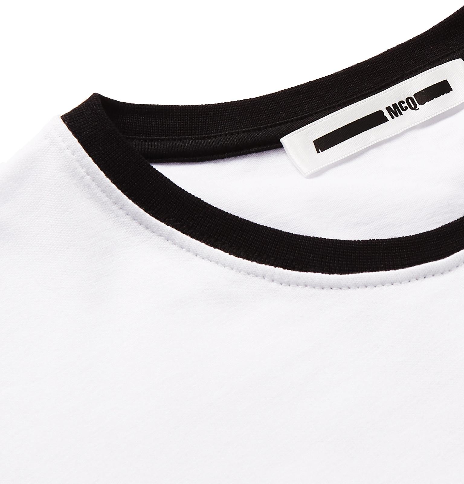 Mcq Alexander Mcqueen Santa Rosa Printed Cotton Jersey T Shirt