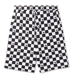 McQ Alexander McQueen - Checkerboard Loopback Cotton-Jersey Shorts