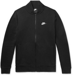 Nike Slim-Fit Fleece-Back Cotton-Blend Jersey Zip-Up Sweatshirt