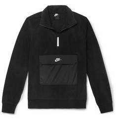 Nike Shell-Trimmed Fleece Half-Zip Sweatshirt