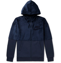Nike Fleece and Cotton-Blend Jersey Zip-Up Hoodie