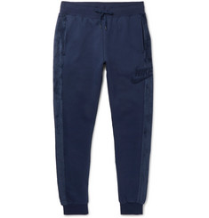 Nike Sportswear Slim-Fit Fleece-Trimmed Cotton-Blend Jersey Sweatpants