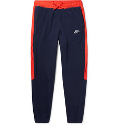 Nike Tapered Shell-Trimmed Fleece Sweatpants