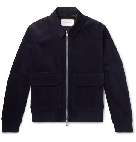 MR P. Cotton-Corduroy Blouson Jacket - Navy
