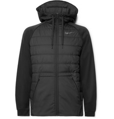 Nike Training Therma Quilted Shell and Dri-FIT Zip-Up Hoodie