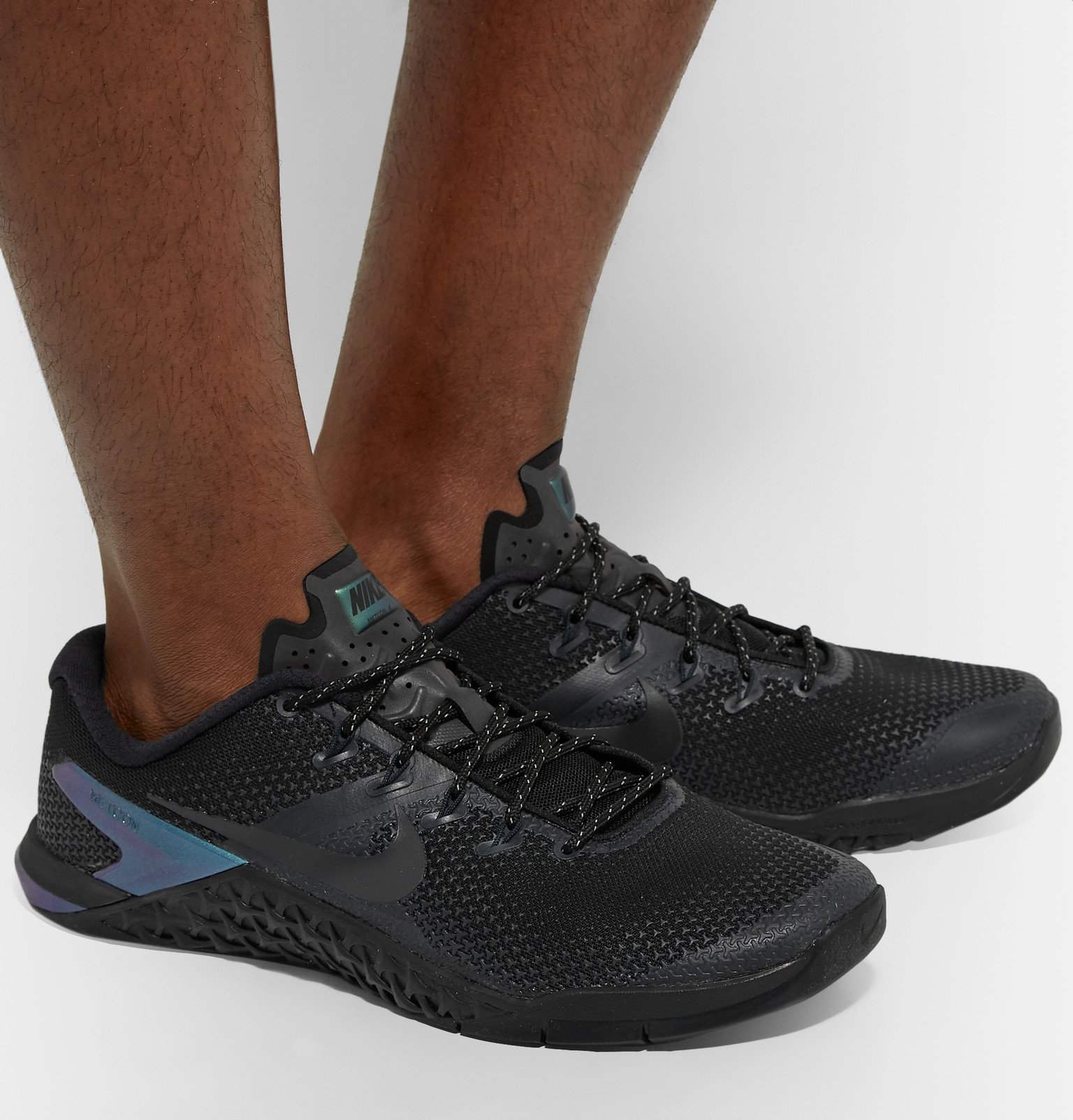 check out 773a1 f6760 Nike TrainingMetcon 4 Premium Rubber-Trimmed Mesh Sneakers