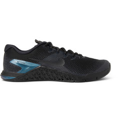Nike Training Metcon 4 Premium Rubber-Trimmed Mesh Sneakers