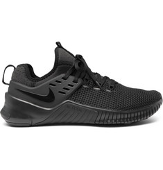 Nike Training Metcon Free Rubber-Trimmed Mesh Sneakers