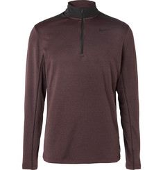 Nike Golf - Two-Tone Mélange Dri-FIT Half-Zip Golf Top