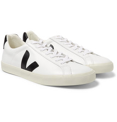 Veja - Esplar Rubber-Trimmed Leather Sneakers