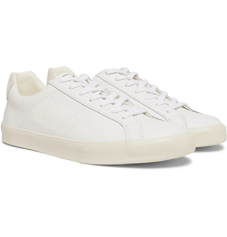 Esplar Suede Trimmed Leather Sneakers by Veja