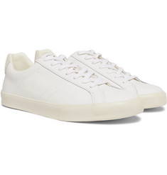 Veja Esplar Suede-Trimmed Leather Sneakers