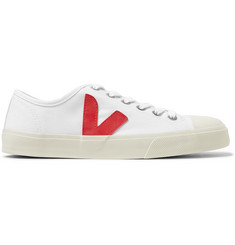 Veja Wata Rubber-Trimmed Organic Canvas Sneakers