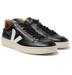 Veja - V-10 Bastille Rubber-Trimmed Leather Sneakers