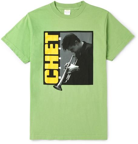 NOON GOONS + Chet Baker Printed Cotton-Jersey T-Shirt