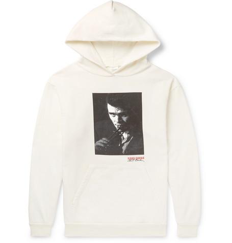 NOON GOONS + Chet Baker Printed Fleece-Back Cotton-Jersey Hoodie