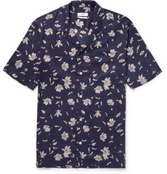 CMMN SWDN - Duncan Camp-Collar Printed Tencel Shirt