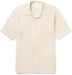 CMMN SWDN Dexter Camp-Collar Woven Tencel-Blend Shirt