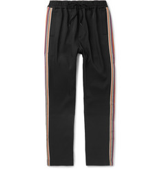 CMMN SWDN Buck Slim-Fit Striped Grosgrain-Trimmed Woven Sweatpants