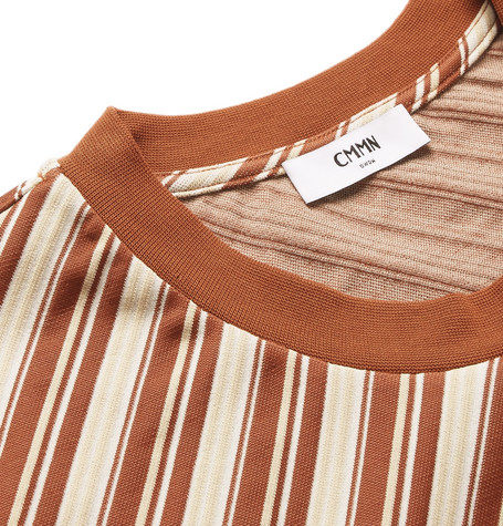 Miles Striped Jersey T Shirt by Cmmn Swdn