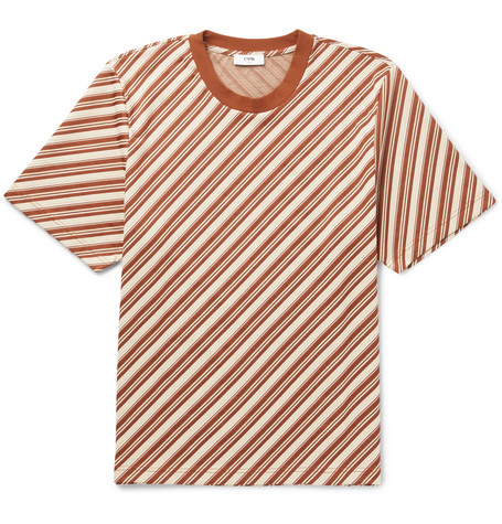 CMMN SWDN MILES STRIPED JERSEY T-SHIRT