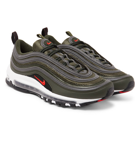 cheap for discount 227f2 aaa2b NikeAir Max 97 Faux Leather and Mesh Sneakers