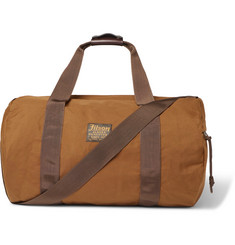 Filson Leather-Trimmed Canvas Duffle Bag