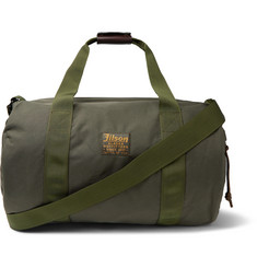Filson - Leather-Trimmed Twill Duffle Bag