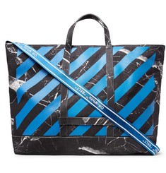 Off-White - Printed Cotton-Canvas Tote Bag