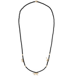 Luis Morais - Beaded Wood and 14-Karat Gold Necklace