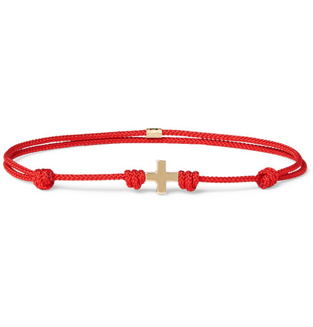Luis Morais Cord And 14-karat Gold Bracelet - Red