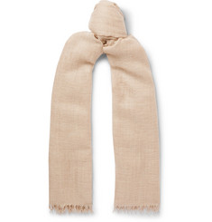 Begg & Co Staffa Fringed Cashmere and Silk-Blend Scarf