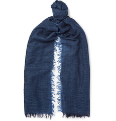 Begg & Co Filigree Fringed Cashmere-Gauze Scarf
