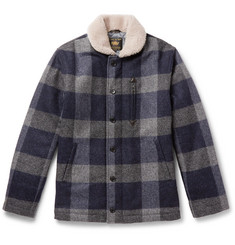 Golden Bear - The Cooper Shearling-Trimmed Checked Wool Jacket