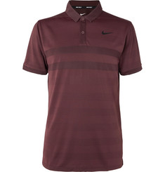 Nike Golf Zonal Cooling Striped Jersey and Mesh Golf Polo Shirt