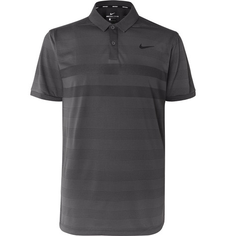 8ad13ceecc Nike Golf - Zonal Cooling Striped Jersey and Mesh Golf Polo Shirt