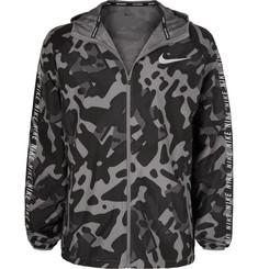 Nike Running Camouflage-Print Shell Hooded Jacket