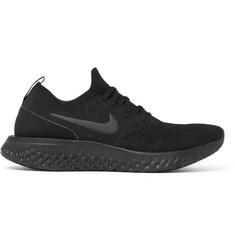 Nike Running - Epic React Rubber-Trimmed Flyknit Running Sneakers